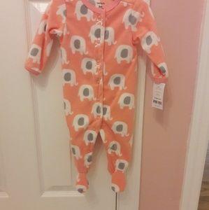Elephant fleece footie pajamas